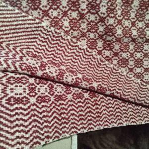Μαλλινη χειροποίητη κουβέρτα αργαλειου.
