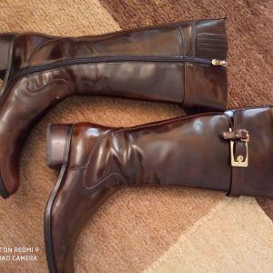 Δερμάτινες Esthissis γυναικείες μπότες επώνυμες