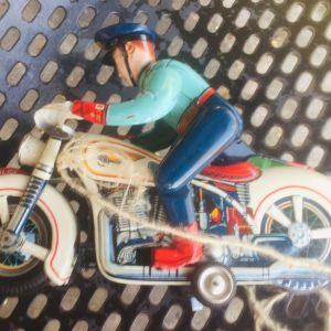 MASUDAYA VINTAGE TIN TOYS MOTORCYCLE POLICE 1950s (Συλλεκτικό)