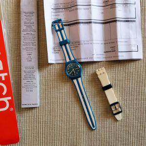Swatch Ελβετικό Ρολόι SR1130SW θαλασσί