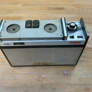 Saba Sabamobil TK-R12 Portable Reel To Reel Tape Deck 1960 φορητό Μπόμπινοφωνο κασέτας εξαιρετικά σπανιο