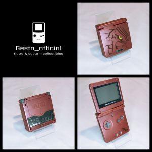 Gameboy Advance Sp Pokemon Groudon Edition Custom Shell Gesto_official