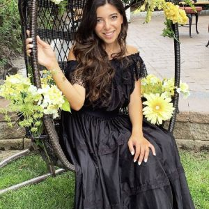 Boho Μεταξωτό Μαύρο Φόρεμα Off shoulders Faith Connection / Boho Silk Dress