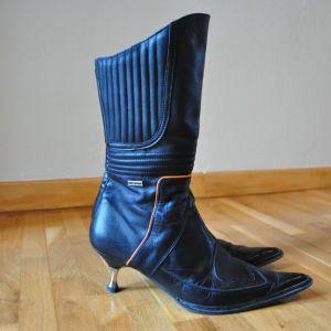 Vintage Harley Davidson leather boots / Vintage Δερμάτινες μπότες Harley Davidson
