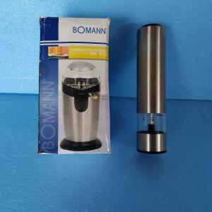 Μύλος άλεσης καφέ Bomann KSW 445 CB,,ηλεκτρικος,και μυλος αλατιου,πιπεριου,μπαταριας,και τα δυο μαζι=20€