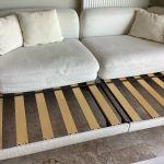 Τριθέσιος καναπες- κρεβάτι λευκός