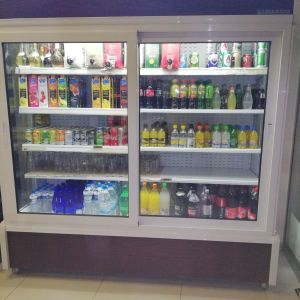 Επαγγελματικό ψυγείο self service ΜΕ 2 ΣΥΡΩΜΕΝΕΣ ΠΟΡΤΕΣ 2,00x2,05x,83