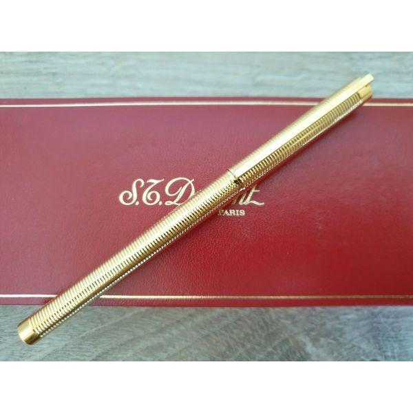 S.T. Dupont Classic Rollerball Pen - Gold Rings Pattern silektiko stilo