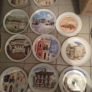 Συλλεκτικά πορσελάνινα πιάτα Ιωνία Ελλήνων ζωγραφων