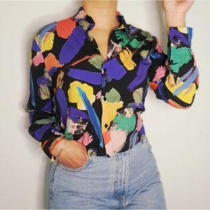 Πολύχρωμο πουκάμισο τυπου vintage
