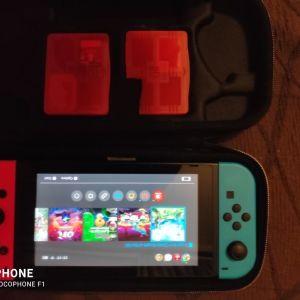 Switch 2020 version μαζι με καρτα μνημης, θηκη και nintendo account με online προσβαση