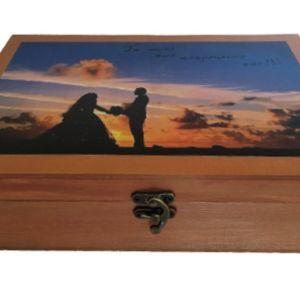 Ξύλινο κουτί αποθήκευσης αναμνήσεων