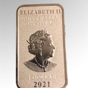 Australia 1 oz silver bar 2021