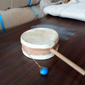Εθνικ Τυμπανάκι περιστροφής διπλό ξύλινο