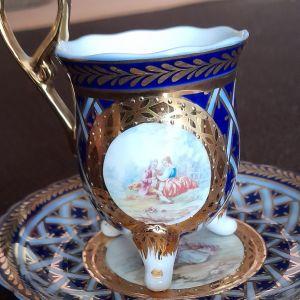 Limoges πορσελάνη σετ φλιτζάνι με πιατάκι