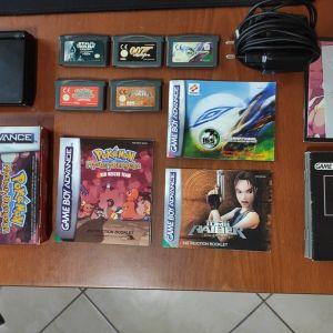 Game Boy Advance SP + Games