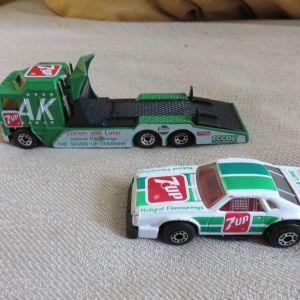 Matchbox 7up νταλικα και αυτοκινητακι