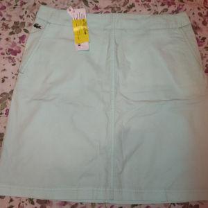 Γαλάζια φούστα Lacoste με το καρτελάκι