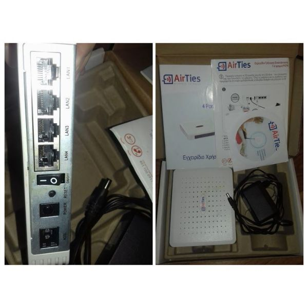 airTies adsl2 + 4 Port router