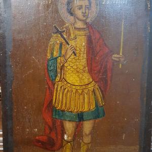 Εικόνα αντίκα Αγίου Φανουρίου