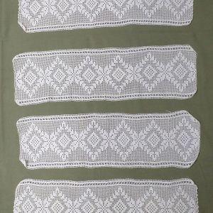 Δαντέλες για σεμέν με δύο πετσετάκια
