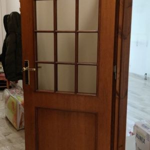 Ξύλινες (Δρύϊνες) Εσωτερικές Πόρτες Με Τζάμια Διαστ. 82Χ206