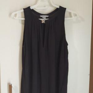 Μαύρο αμάνικο μπλουζάκι H&M