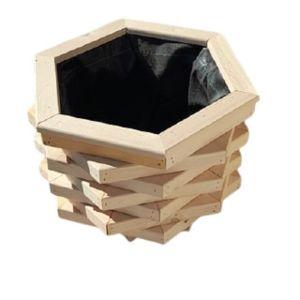 Ξύλινη γλάστρα - ζαρντινιέρα δωδεκάγωνη