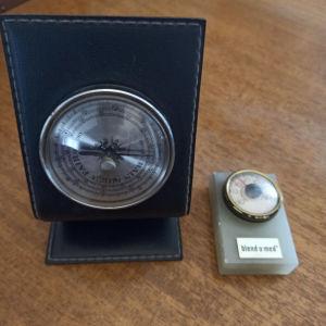 βαρόμετρο και θερμόμετρο αντίκες