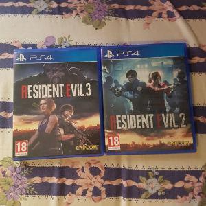 Resident evil 2,3 ps4