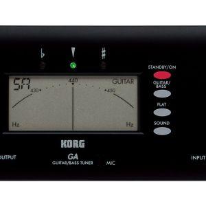 Ψηφιακό Kουρδιστήρι για Kιθάρα & Mπάσο Korg GA-40 BK