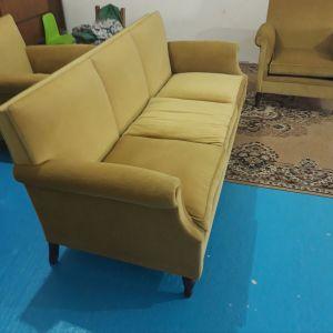 Vintage τριθέσιος καναπές με 4 πολυθρόνες