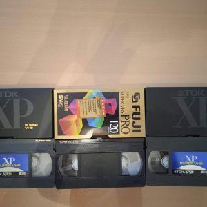 S-VHS ΤΡΕΙΣ ΚΑΣΣΕΤΕΣ με μουσικη βινυλιου JAZZ,JAZZ VOCALS,ROCK,εγγραφη με dolby μεσω λαμπατου buffer και λαμπατου προενισχυτη,HIGH END ΗΧΟΣ