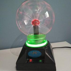 Λάμπα Magic Plasma Light Ball με φως και ήχο, ύψους 21 εκατοστά