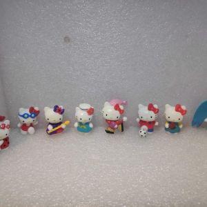 8 συλλεκτικες Φιγουρες Hello Kitty