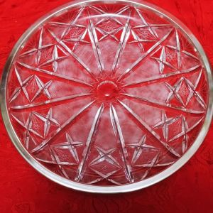 Πιατέλα Nefra Met χειροποίητο χάραγμα, κρύσταλλο μόλυβδου 50' Πολονια