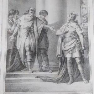 Βασιλιάς Μίνωας αρνείται την Διάσωση λιθογραφία 24x34cm Ant. Zenon