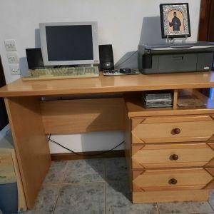 Γραφείο φοιτητικό αφρικανικού ξύλου