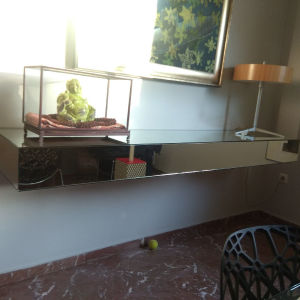 Κονσόλα επιτοιχια καθρέφτης της glass d'italia