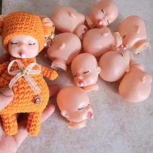 10 DIY crochet material plastic baby doll heads