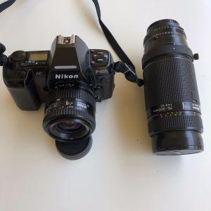 Nikon AF 801 με φακο 35-70mm, επιπλέον φακός 75-300 mm Nikon AF NIKKOR σε αριστη κατάσταση όλα