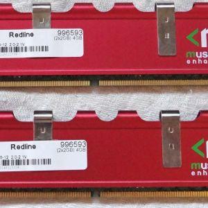 Mushkin Redline 4GB (2 x 2GB) 240-Pin DIMM SDRAM DDR2 1000 (PC2 8000) Dual Channel Kit Memory Model 996593