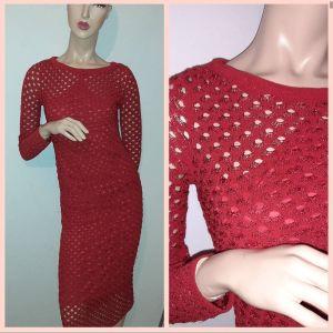 πλεκτό φόρεμα κοκκινο