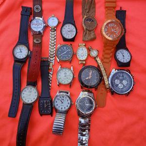 17 ρολόγια πωλούνται όλα μαζί 25 ευρώ
