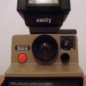 Polaroid 500 Land Camera.