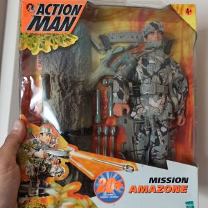 Action Man Mission Amazone RARE figure  Πολλά Αξεσουάρ SURVIVAL Φιγούρα ΣΠΑΝΙΑ Κλειστή στο Κουτί της