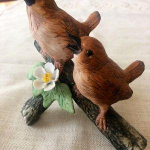 Vintage Αγαλματίδιο πορσελάνης. Πουλιά
