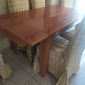 τραπεζαρία με 6 καρέκλες (πωλούνται και ξεχωριστά)