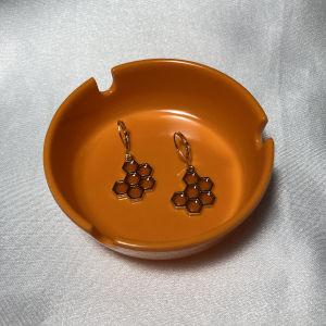 χειροποίητα σκουλαρίκια honeycomb