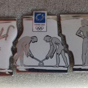 Καρφίτσες  Ολυμπιακών Αγώνων  2004 πάζλ  3 τεμαχίων